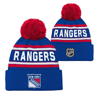 New York Rangers (Adidas New York Rangers Youth Pom Knit Hat)