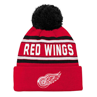 Front (Adidas Detroit Red Wings Youth Pom Knit Hat)