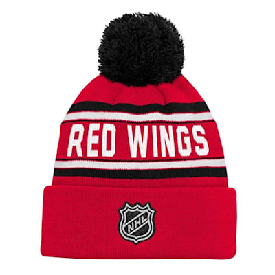 Back (Adidas Detroit Red Wings Youth Pom Knit Hat)