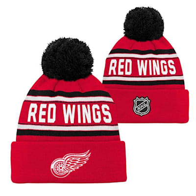 Detroit Red Wings (Adidas Detroit Red Wings Youth Pom Knit Hat)