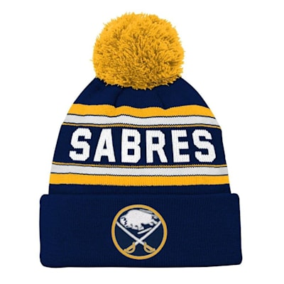 Front (Adidas Buffalo Sabres Youth Pom Knit Hat)