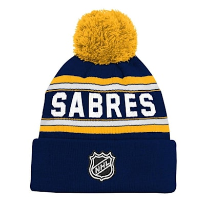 Back (Adidas Buffalo Sabres Youth Pom Knit Hat)