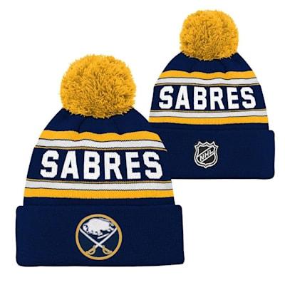 Buffalo Sabres (Adidas Buffalo Sabres Youth Pom Knit Hat)