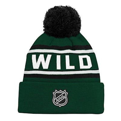 Back (Adidas Minnesota Wild Youth Pom Knit Hat)