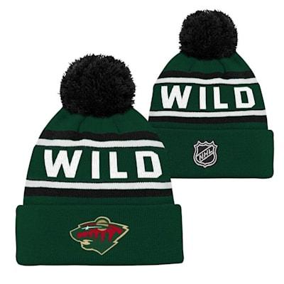 Minnesota Wild (Adidas Minnesota Wild Youth Pom Knit Hat)