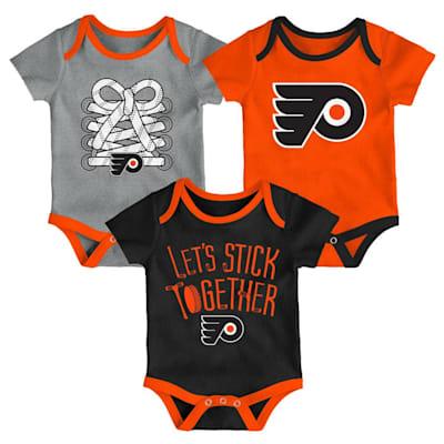 (Adidas Philadelphia Flyers Five on Three Baby Onesie 3-Pack - Infant)