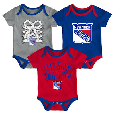 (Adidas New York Rangers Five on Three Baby Onesie 3-Pack - Infant)