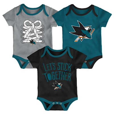 (Adidas San Jose Sharks Five on Three Baby Onesie 3-Pack - Infant)
