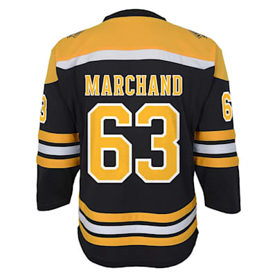 Back (Adidas Boston Bruins Marchand Jersey - Youth)