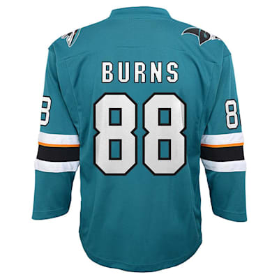 Back (Adidas San Jose Sharks Burns Jersey - Youth)