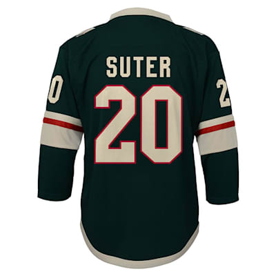 Back (Adidas Minnesota Wild Suter Jersey - Youth)