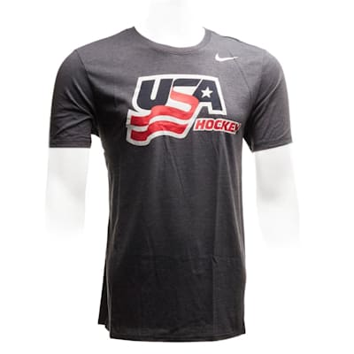(Nike USA Hockey Tri-Blend Short Sleeve Tee - Adult)