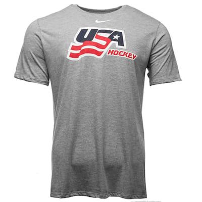 (Nike USA Hockey Tri-Blend Short Sleeve Tee - Mens)