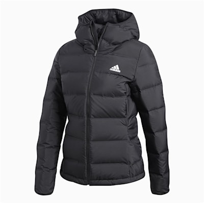 Front (Adidas Outdoor Helionic Hooded Jacket - Black - Mens)