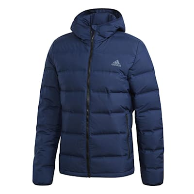 (Adidas Helionic Hooded Jacket - Navy - Mens)