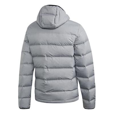 (Adidas Helionic Hooded Jacket - Grey - Mens)