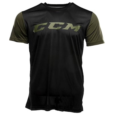 Black (CCM Grit Tech Top Exclusive Shirt - Youth)