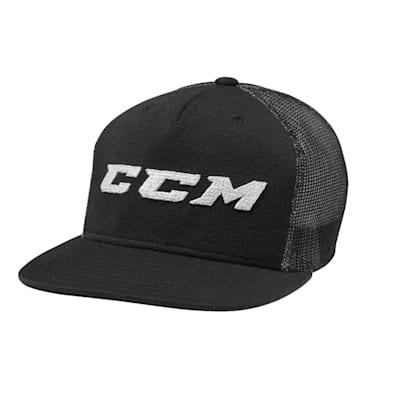 Black (CCM Grit Flat Brim Snapback Cap - Adult)