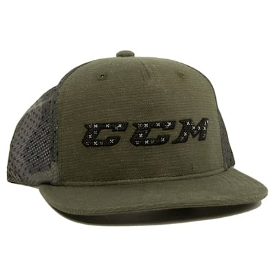 Army Green (CCM Grit Flat Brim Snapback Cap - Adult)