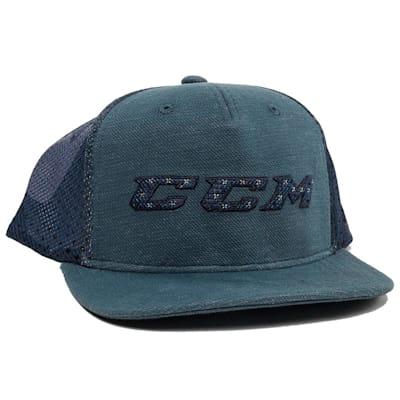 Blue (CCM Grit Flat Brim Snapback Cap - Adult)