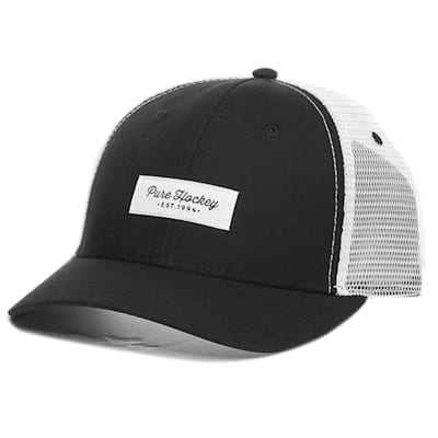 (Pure Hockey Mesh Back Script Hat Black - Youth)