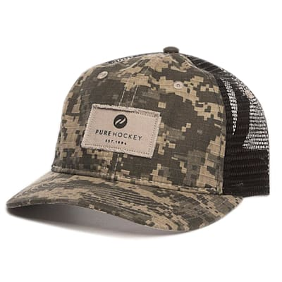 (Pure Hockey Mesh Back Camo Hat - Adult)