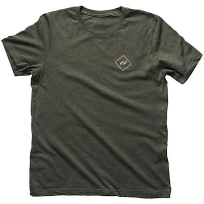Front (Pure Hockey Authentic Tee - Army Green - Adult)