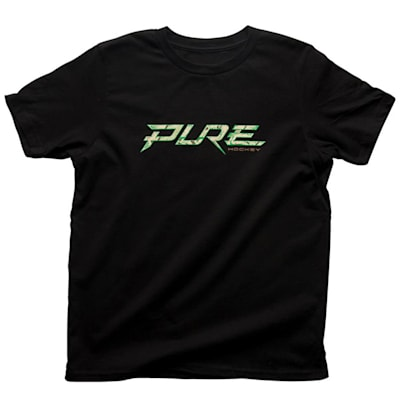 Front (Pure Hockey Youth Powerplay Tee - Black - Youth)