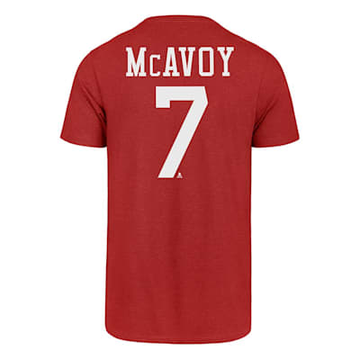 Back (47 Brand Boston University Charlie McAvoy Tee - Adult)