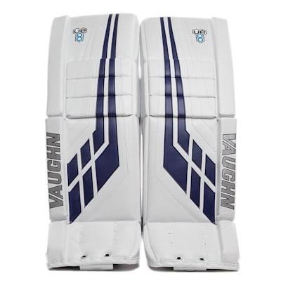White/Blue (Vaughn Velocity VE8 Pro Carbon Goalie Leg Pads - Senior)