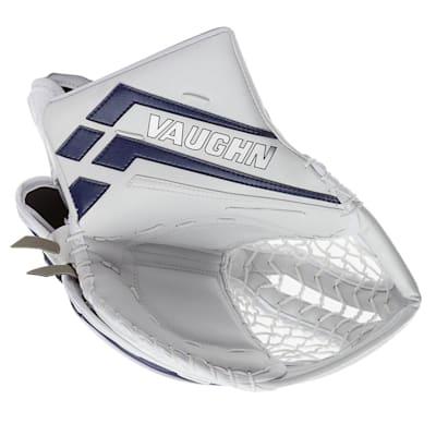 White/Blue (Vaughn Velocity VE8 Pro Carbon XP Goalie Catch Glove - Senior)