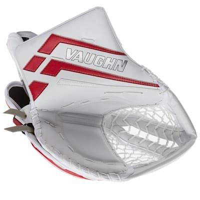 White/Red (Vaughn Velocity VE8 Pro Carbon XP Goalie Catch Glove - Senior)