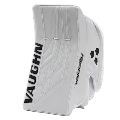 White/White (Vaughn Velocity VE8 Pro Carbon Goalie Blocker - Senior)