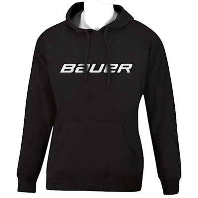 Black (Bauer Core Graphic Hoodie - Adult)