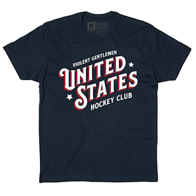 Front (Violent Gentlemen United States Hockey Club Tee - Navy - Mens)