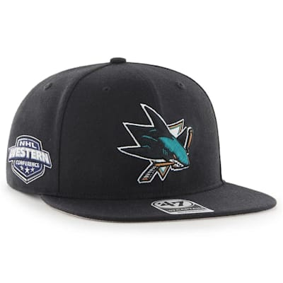 (47 Brand San Jose Sharks Sure Shot Captain Snapback Cap)
