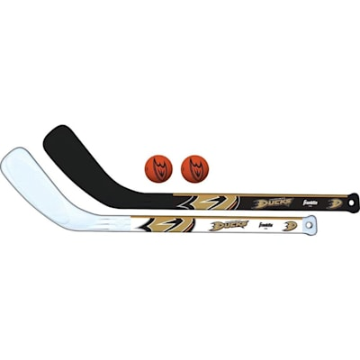 (Franklin NHL Mini Hockey Stick Set - Anaheim Ducks)