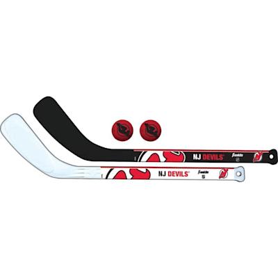 (Franklin NHL Mini Hockey Stick Set - New Jersey Devils)