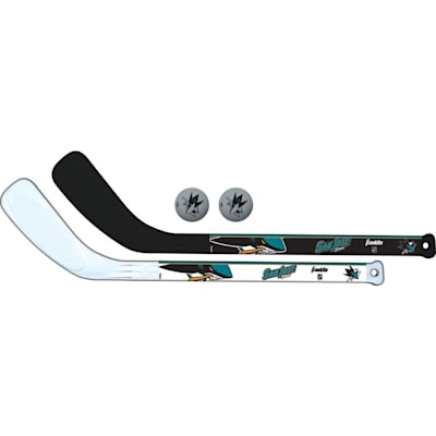 (Franklin NHL Mini Hockey Stick Set - San Jose Sharks)