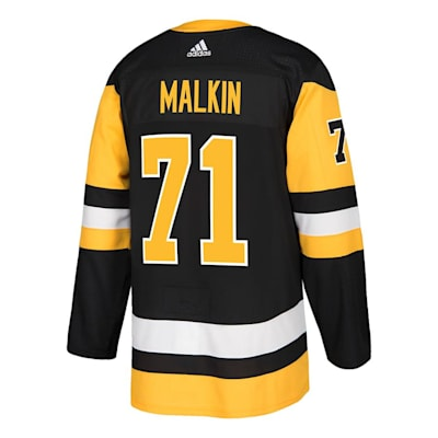 Back (Adidas Pittsburgh Penguins Malkin #71 Authentic NHL Jersey - Home - Adult)