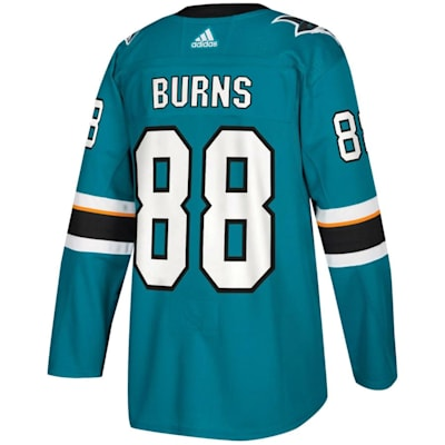 Back (Adidas Brent Burns San Jose Sharks Authentic NHL Jersey - Home - Adult)