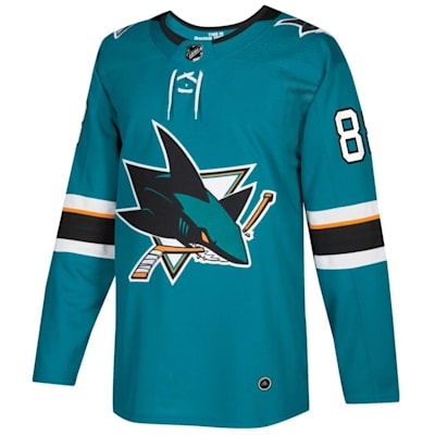 Front (Adidas Brent Burns Sharks Authentic NHL Jersey - Home - Adult)