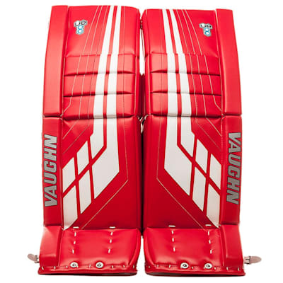 Red/White (Vaughn Velocity VE8 XFP Goalie Leg Pads - Intermediate)