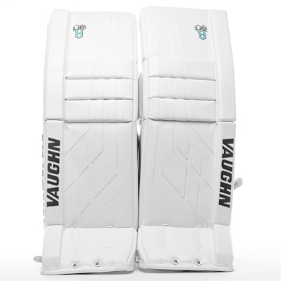 White/White (Vaughn Velocity VE8 XFP Goalie Leg Pads - Intermediate)
