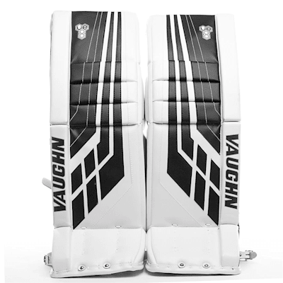White/Black (Vaughn Velocity VE8 XFP Goalie Leg Pads - Intermediate)