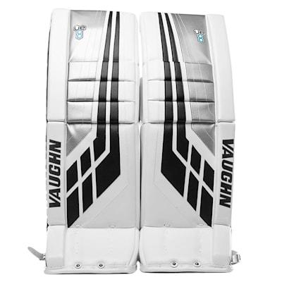White/Black/Silver (Vaughn Velocity VE8 XFP Goalie Leg Pads - Senior)