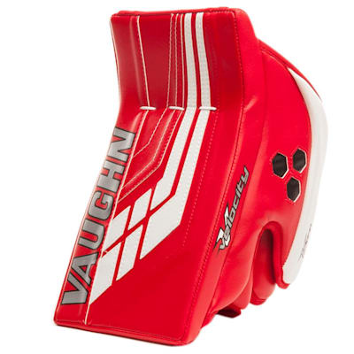 Red/White (Vaughn Velocity VE8 XFP Goalie Blocker - Intermediate)