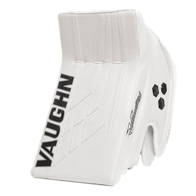 White/White (Vaughn Velocity VE8 XFP Goalie Blocker - Intermediate)