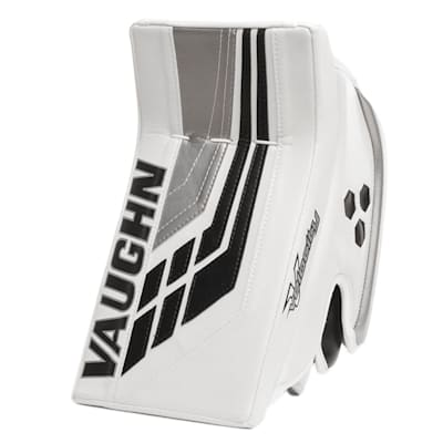 White/Black/Silver (Vaughn Velocity VE8 XFP Goalie Blocker - Senior)