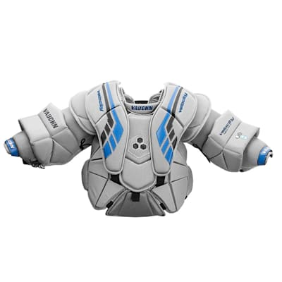 Grey/Black/Blue (Vaughn Velocity VE8 XFP Goalie Chest and Arm Protector - Junior)